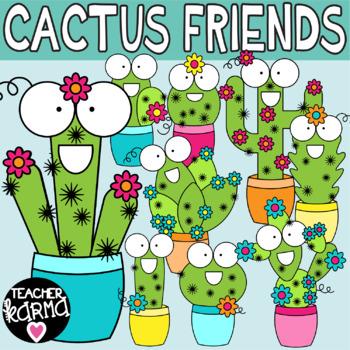 Cactus Clipart, Happy Friends