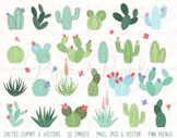 Cactus Clipart Clip Art, Succulent Clipart Clip Art, Tribal Clipart Clip Art