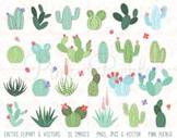 Cactus Clipart Clip Art, Succulent Clipart Clip Art, Triba