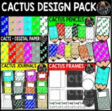 Cactus Clipart Design Pack {Educlips Clipart}