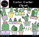 Cactus Clipart - Easter Clipart - Spring Clipart