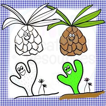 Cactus Clipart FREEBIE!