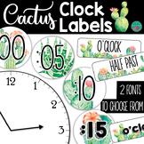 Cactus Clock Labels