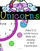Unicorn Magic Clock Labels: Unicorn Classroom Decor