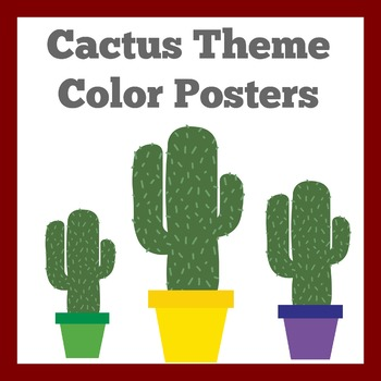 Cactus Color Posters | Cactus Theme Color Posters