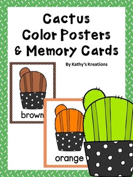 Cactus Color Posters & Memory Cards