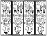 Cactus Color-Your-Self Bookmarks