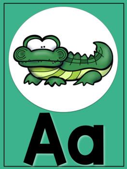 Cactus Colored Animal Alphabet Posters