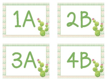 Cactus - Cooperative Learning Desk Tags