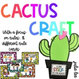 Cactus Craft Rules and Classroom Management Activity