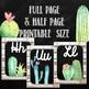 Cactus Classroom Decor Cursive Alphabet Posters