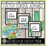 Cactus Cursive Alphabet with EDITABLE COMPONENTS