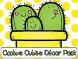 Succulent Cactus Cuties Classroom Decor Pack with Editable Templates