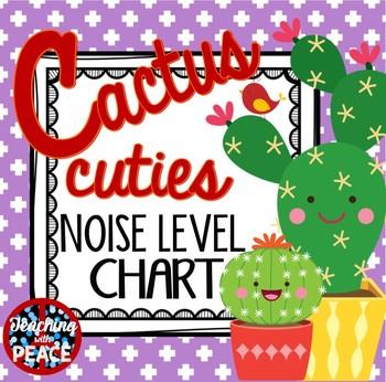 Cactus Cuties Classroom Noise Level Chart