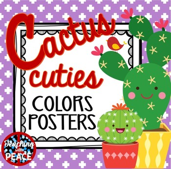 Cactus Cuties Colors Posters