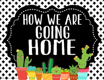 Cactus Cuties Theme Going Home System *editable*