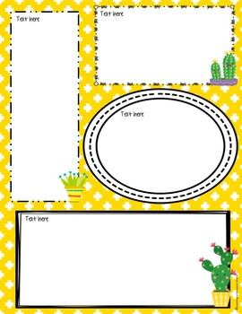 Cactus Cuties Newsletter Templates *editable*