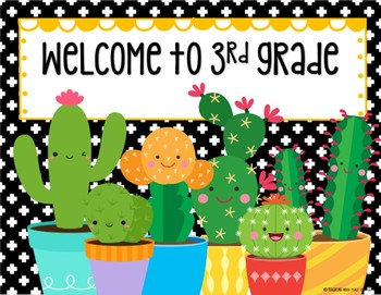 Cactus Cuties Slideshow Templates *editable*