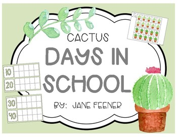 Cactus Days in School Ten Frames Chart