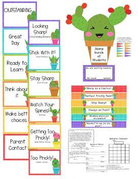 Cactus Decor Bundle Editable 200+ pages! Behavior, Jobs, Calendar