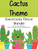 Cactus Decor Bundle Editable 200+ pages! Behavior, Jobs, Calendar