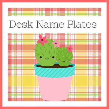 Cactus Name Plates | Cactus Desk Plates | Cactus Theme Name Plates
