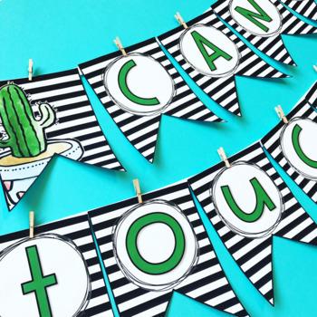 Cactus Decor: Editable Banners