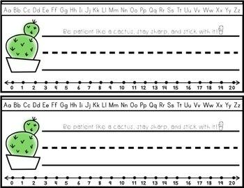 Cactus Decor: Name Tags and Name Plates EDITABLE