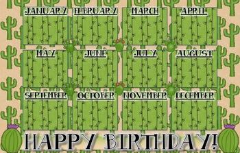 Cactus Desert Theme Birthday Poster