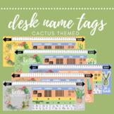 Cactus Desk Name Labels