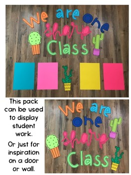 We are One Sharp Class Bulletin Board Display