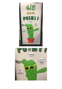 Cactus Door Display All Year levels. Year 1 to 6 are on Point