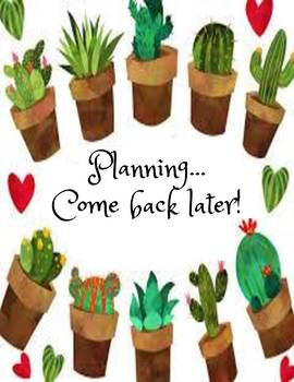 Cactus Door Planning Period Door Sign