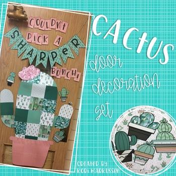 Cactus Door and Bulletin Board Decoration