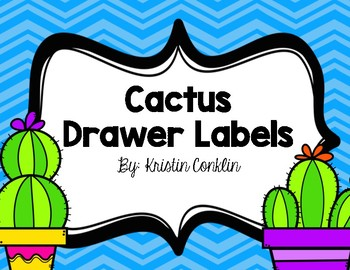 Cactus Drawer labels or objective headers