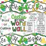 Cactus Dry Erase Word Wall