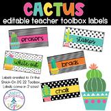 Cactus Classroom Theme Editable Toolbox Labels
