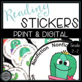 Cactus Emoji Reading Badges: Perfect for Reading Challenge
