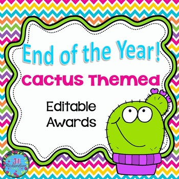 Cactus End Of The Year Awards Editable