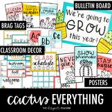 Cactus Everything BUNDLE | Cactus Decor | Cactus Classroom