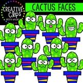 Cactus Faces Clipart {Creative Clips Clipart}