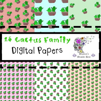 Cactus Family Digital Papers