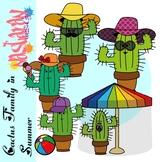 Cactus Clipart - Cactus Family In Summer Clipart