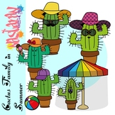 Cactus Family In Summer Clipart