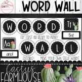 Cactus Farmhouse - Editable Word Wall
