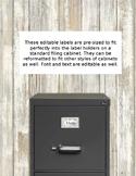 Cactus File Cabinet Labels