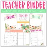 Cactus Floral Teacher Planner 2021-2022 | Editable
