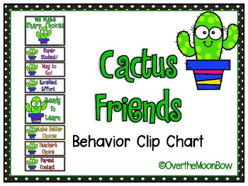 Cactus Friends Behavior Clip Chart