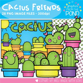 Cactus Friends Clipart Set