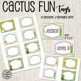 Cactus Fun Coat Hook Tags, Name Tags and Cubby Tags